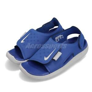 on sale dd1ef 8d7e1 Image is loading Nike-Sunray-Adjust-5-GS-PS-Game-Royal-