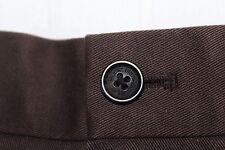 BROOKS BROTHERS Advantage Chino CLARK Flat Front Brown Pants 38 X 30