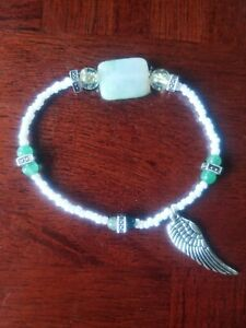 handmade-womens-unique-white-guardian-angel-protection-stretch-bead-bracelet