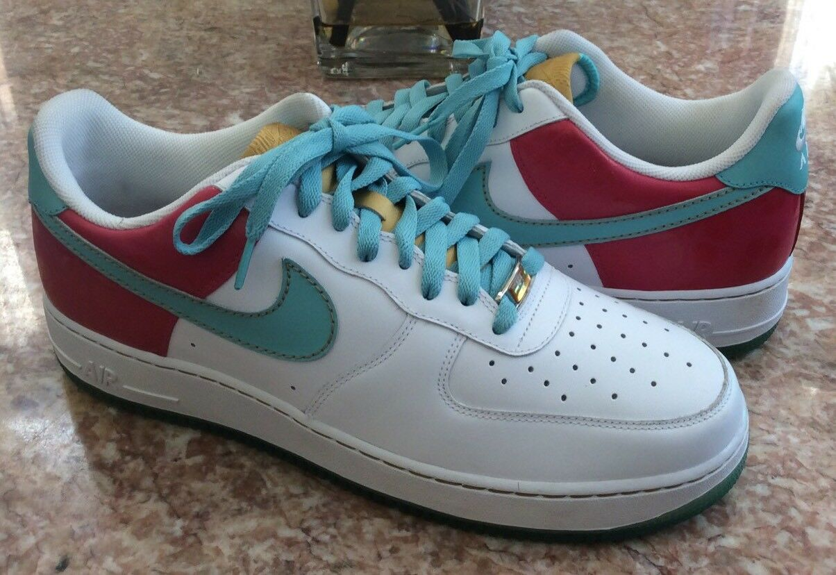 New Nike Air Force 1 Low '07 Men Hawaiian Gold Pink Blue Shoes Sz 13  Cheap women's shoes women's shoes