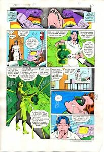 Original-1984-Green-Lantern-176-DC-Comics-color-guide-artwork-page-20-D-Gibbons