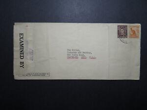 Australia-1942-Censor-Cover-to-USA-Several-Creases-Z12065