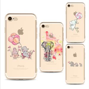 Dettagli su COVER SILICONE IPHONE 6 -6s Elefante unicorno dolcezza tenerezza amici amicizia