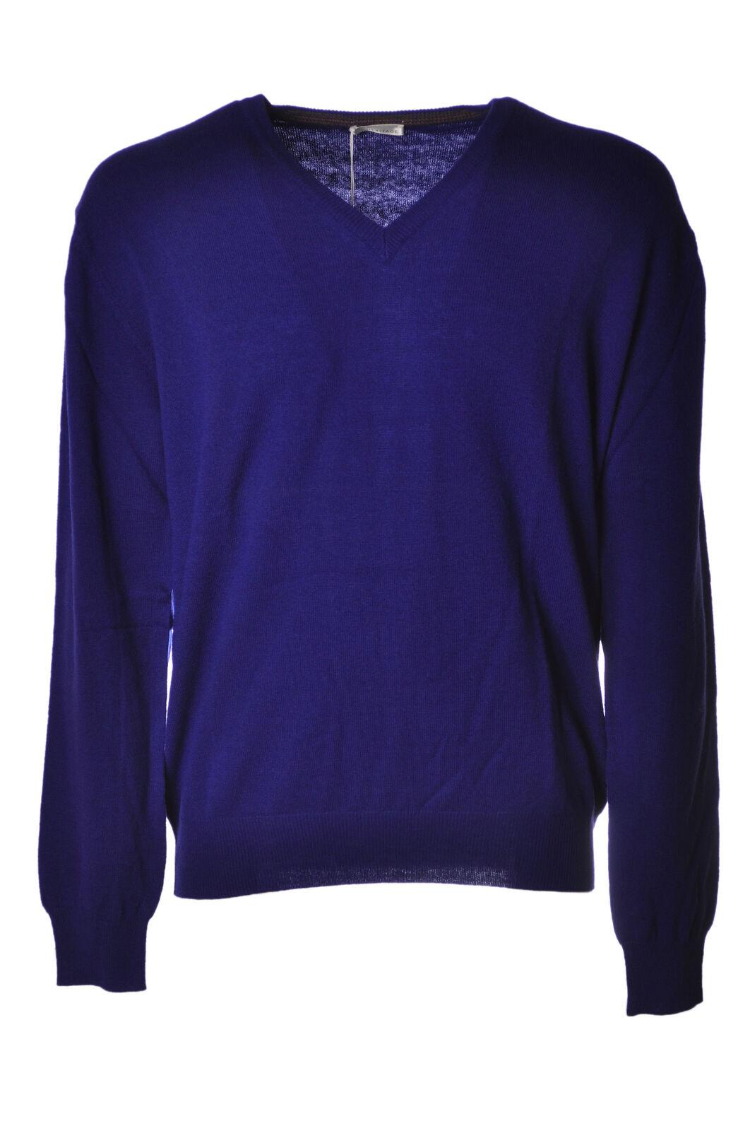 Heritage - Knitwear-Sweaters - Man - Blau - 4639428M184004