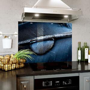Splashback En Verre Cuisine Cuisinière Zoom Goutte D'eau Plume Toute Taille 0505-afficher Le Titre D'origine