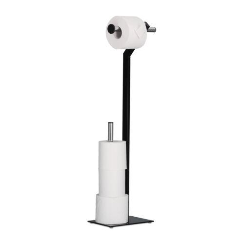 WC-Papierhalter stehend Klorollenhalter Metall Toilettenpapierhalter chrom Stand