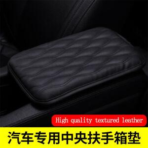 Black-PU-Leather-Arm-Rest-armrest-ARMREST-PAD-MAT-COVER-REST-FOR-CAR-AUTO