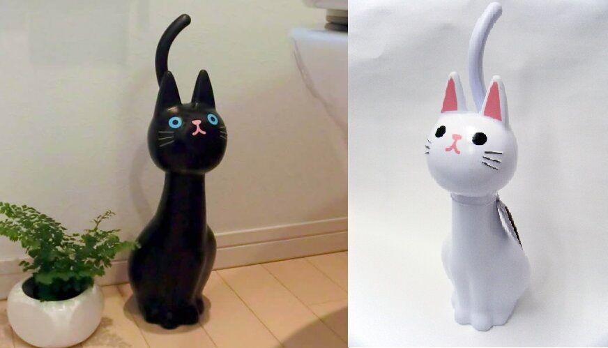 New Cat Toilet Brush Black Cat Cute Kawaii 2 colors Japan