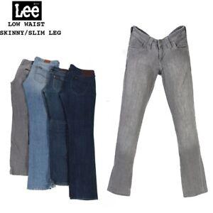 Vintage-Lee-Damen-Low-Waist-Skinny-Slim-Leg-Jeans-Denim-26-in-um-40-in