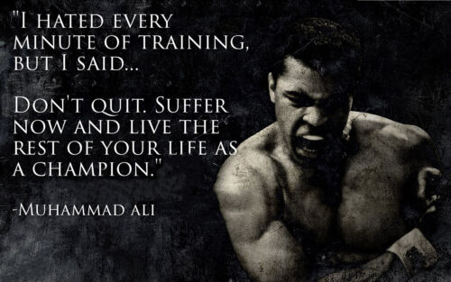Poster A3 Muhammad Ali Citas Motivacionales Motivational Quotes 02