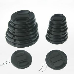10PCS-52mm-Center-Pinch-Snap-On-Front-Lens-Cap-with-Cord-for-Cameras