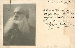 Autografo-dello-scrittore-Filippo-Orlando-su-cartolina