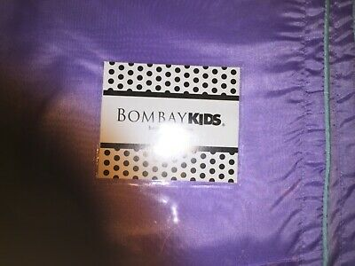 New Bombay Kids Tropical Twin Bedskirt Purple With Teal