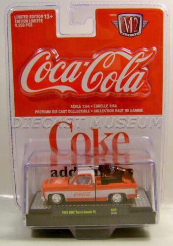 1975 /'75 GMC SIERRA GRANDE 15 PICKUP TRUCK A02 COCA-COLA COKE M2 MACHINES 2020