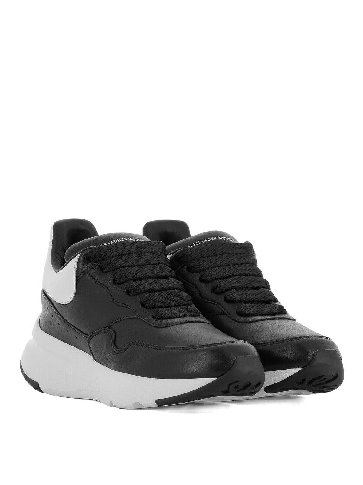 Authentique Alexander McQueen en peau d'agneau Runner Sneaker EU37 UK4 US7 495