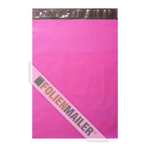45 x 60 cm blickdicht Versandtaschen 25 Folien neon PINK Folienbeutel