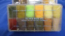 WAPSI Superfine Trockenfliegen Dubbing wasserabweisend schwimmt Superfine #2