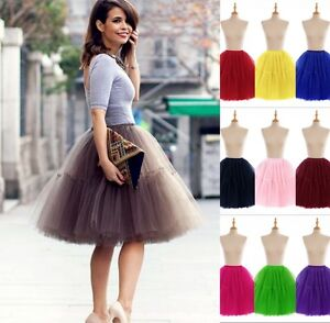 849943b083 Women Girls 6 layer Tutu Skirt Tulle Skirts Adult Tutu Prom Ball A ...