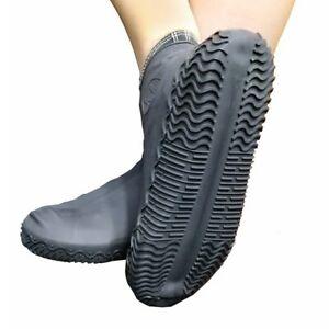 Rubber Rain Shoe Covers Bike Boot Reusable Overshoe Waterproof Anti-slip Durable