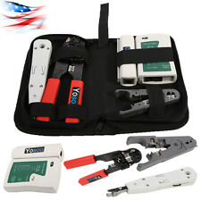 RJ45 RJ11 LAN Network Tool Set Kit Cable Tester Crimper Wire Cutter Punch Down
