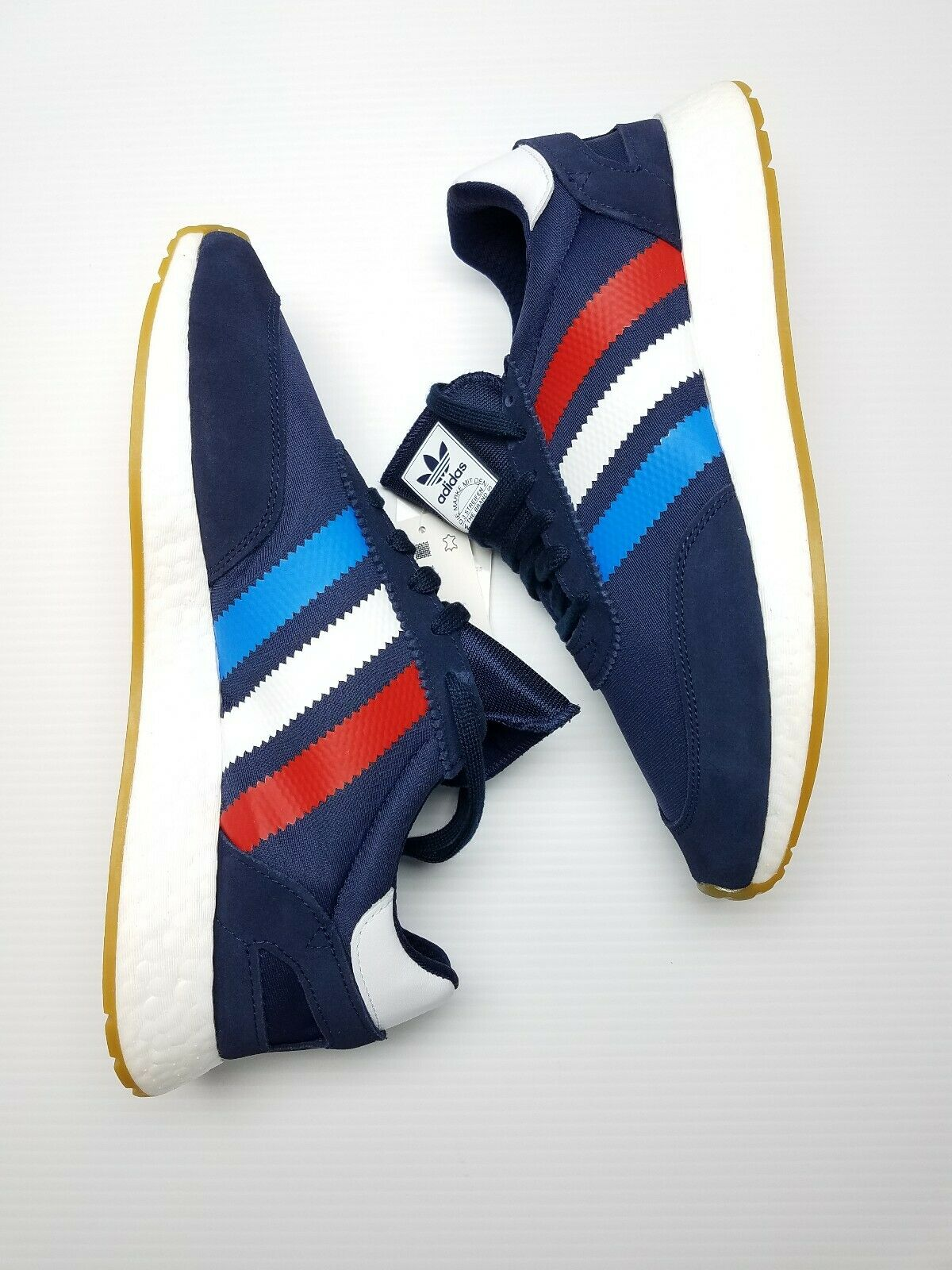 Adidas Original Mens I- 5923 shoes  Navy Red True bluee BD7814 New Sz 8.5