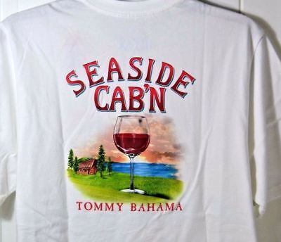M NWT MENS TOMMY BAHAMA WHITE SEASIDE CAB/'N SHORT SLEEVE CREW NECK T SHIRT SZ S