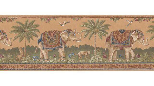 Asian Tropical India Elephant Wallpaper Border 499BS5256 / S5256B