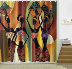 Shower Curtain Bath Cover Liner Digital Painting African ...