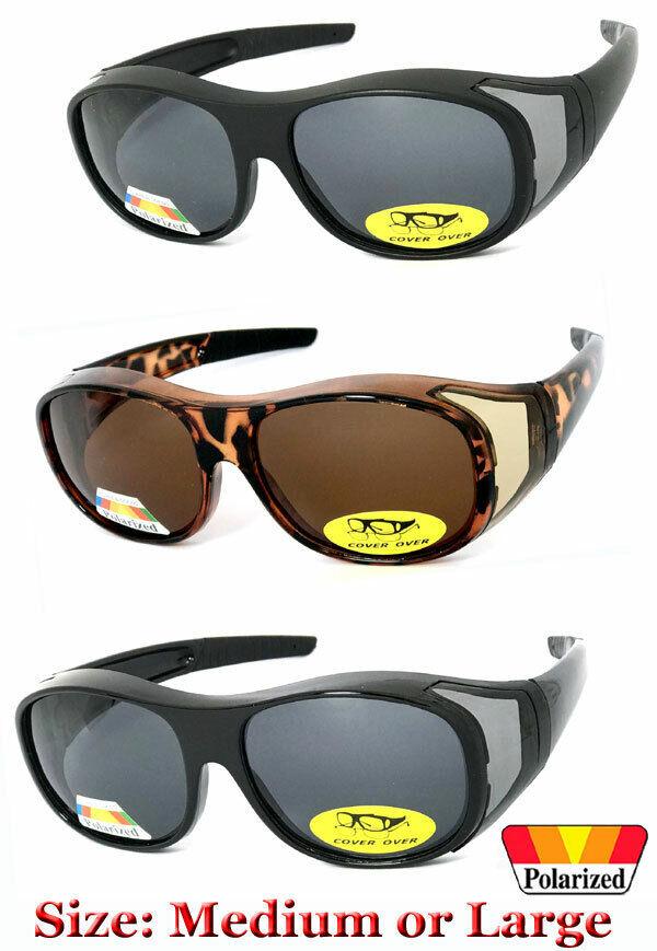 1 O 2 Par Polarizado Escudo Ajuste Sobre Gafas de Sol Cubierta Todo Unidad Pesca