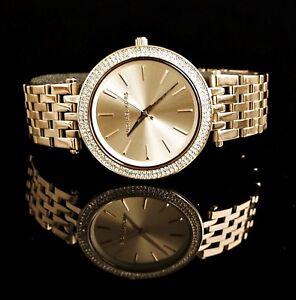Original-Michael-Kors-Reloj-Mujer-MK3191-Darci-Acero-Inox-en-Color-Oro-Nueva