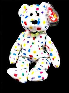 TY BEANIE BABIES COLLECTION ORIGINAL TY 2K CONFETTI BEAR 8