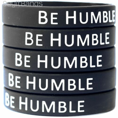 5 Be Humble Wristbands High Quality Debossed Color Filled Silicone Bracelets
