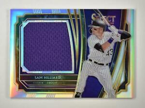 2020-Select-Rookie-Jumbo-Swatch-Holo-RJS-SH-Sam-Hilliard-250-Colorado-Rockies
