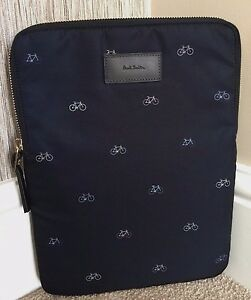 73a0211dc1 PAUL SMITH NAVY BLUE BICYCLE MOTIF PADDED iPAD SLEEVE   CASE BNWT ...