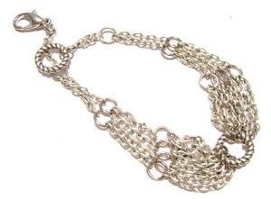 B-07 Bracelet Vintage Style NEW Antiqued Silver Chain, Handmade in USA 7.5 inch