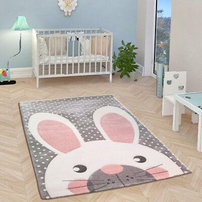 Strange Childrens Animal Rug Grey White Pink Baby Nursery Carpets Kids Bedroom Floor Mat Ebay Download Free Architecture Designs Scobabritishbridgeorg