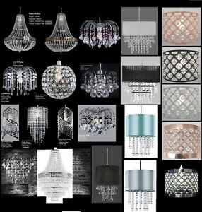 Chandelier-Style-Modern-Ceiling-Light-Shade-Droplet-Pendant-Acrylic-Crystal-Bead