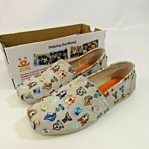 BOBS Skechers Dog Print Shoes Women's 7