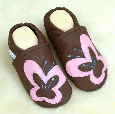 Compiacente Pantofole's Liya Pantofole Krabbelschuhe - #584 Grande Farfalla In Marr-