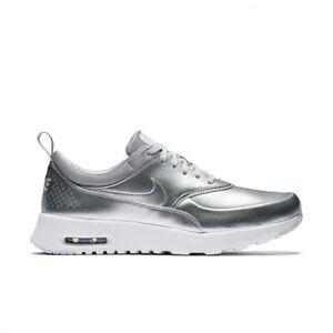 801d4e57b9 Wmns Nike Air Max Thea Metallic UK 5 EUR 38.5 Metallic Sliver White ...