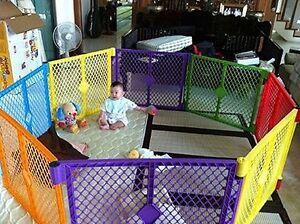 Big 8 Panel Wide Super Playpen Play Yard Baby Pet Dog