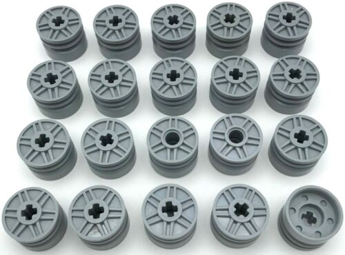 LEGO 20 NEW LIGHT BLUISH GREY SPOKED WHEELS WITH AXLE HOLE PIECES