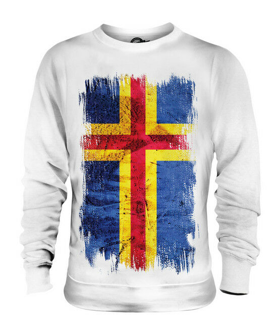 ALAND GRUNGE FLAG UNISEX SWEATER TOP FOOTBALL GIFT SHIRT CLOTHING JERSEY