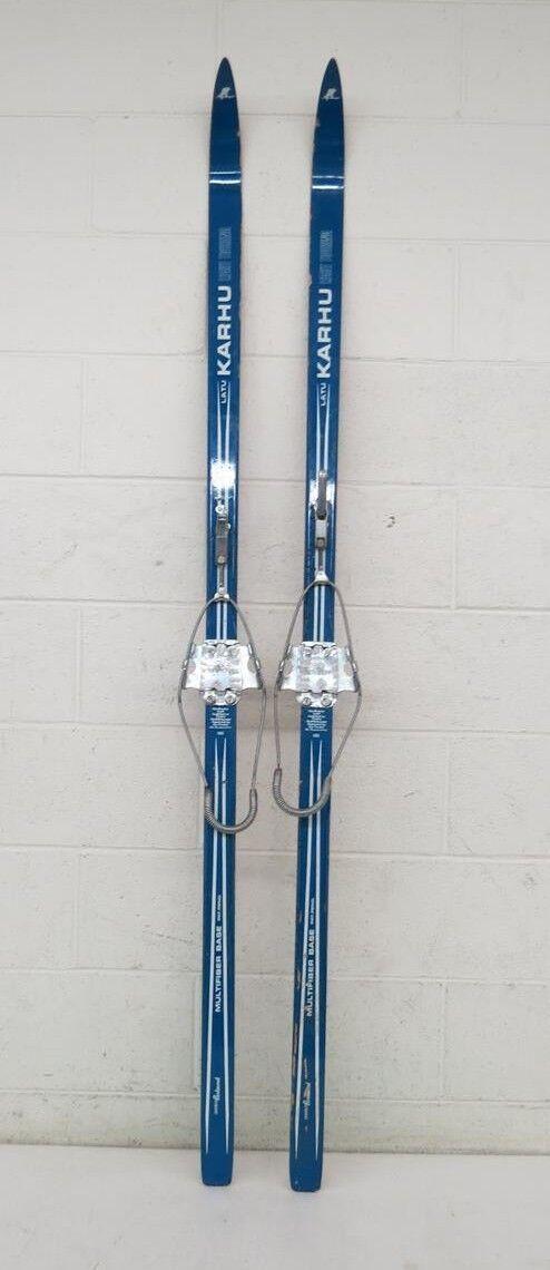 Vintage Karhu Light Touring 180cm Cross Country Skis Royken 75mm Cable Bindings