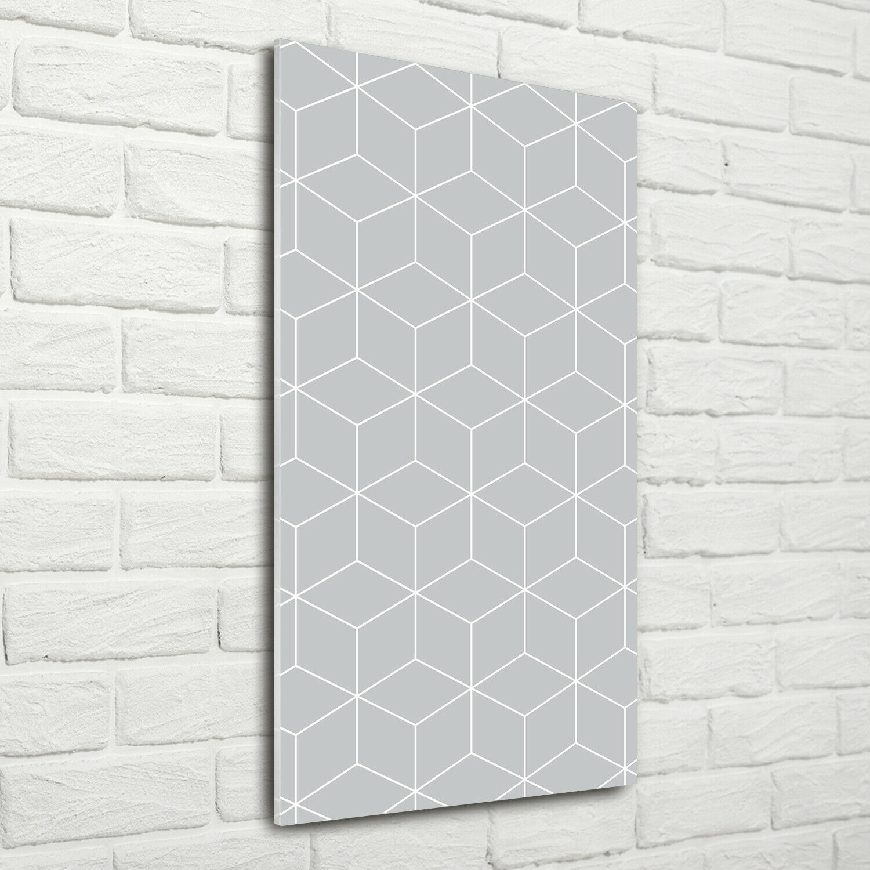 Wand-Bild Kunstdruck aus Acryl-Glas Hochformat 70x140 Geometrische Figuren