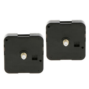 2-Pieces-Black-Wall-Clock-Quartz-Movement-Mechanism-DIY-Replacement-Part