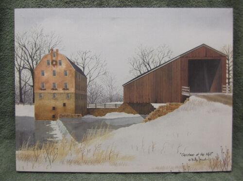 Christmas At The Mill Bridge Canvas Home Decor Billy Jacobs Barn Farm House
