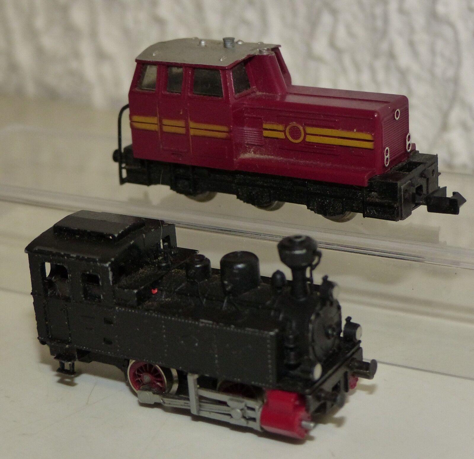 2x Fleischmann lok: 7218 locomotiva, 7000 Tenderlok Spur N