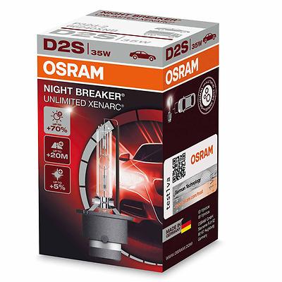 OSRAM D2S NightBreaker Night Breaker UNLIMITED +70% mehr Licht 1St. 66240XNB