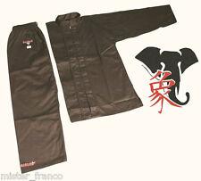 Black Uniforme Divisa KUNG FU CLASSICA e ISHANG TAI CHI WUSHU WING CHUN SANDA